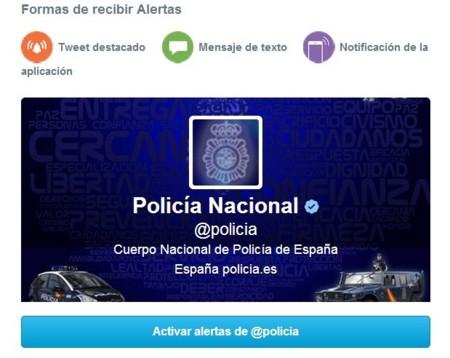 Policia nacional alertas