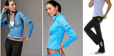 Ropa de mujer pensada para el iPod: iPod Shirt, Jacket y Bootleg Pant