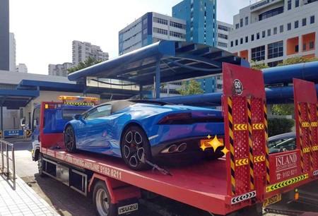 Le incautan Lamborghini en Singapur por rebasar de manera indebida