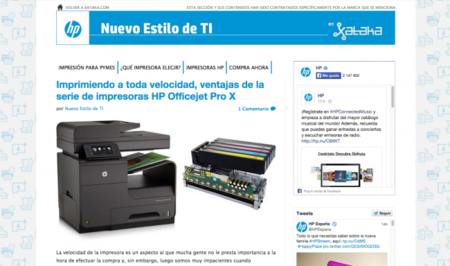 Nuevo estilo de TI, espacio HP en Xataka