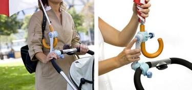 Soporte para colocar el paraguas en el carrito (y tener las dos manos libres)