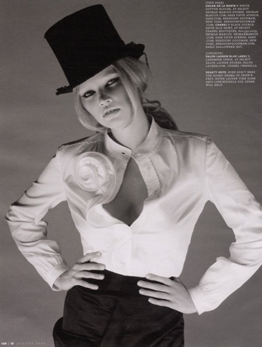 Lara Stone para W: ¿la fashion