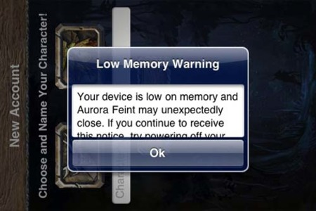 Low Memory Advice