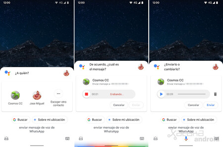 Whatsapp Mensaje Voz Asistente Google