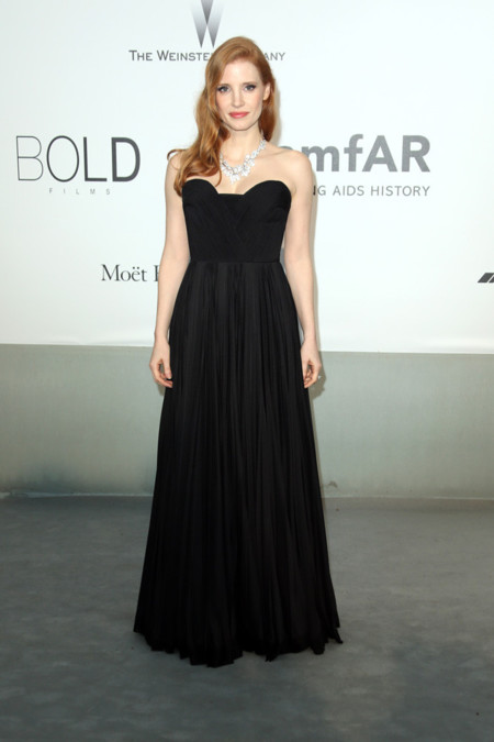 Jessica Chastain amfar Cannes 2014