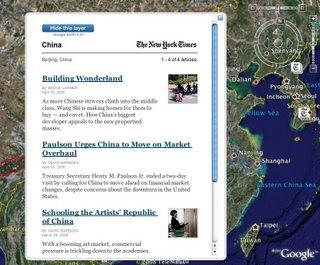 Google Earth añade noticias localizadas