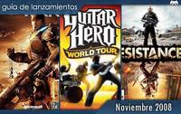 Guía de lanzamientos: Noviembre de 2008