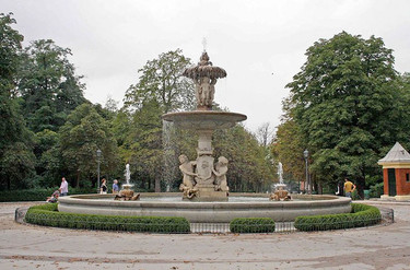La fuente de la Alcachofa en Madrid