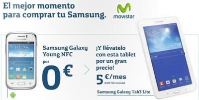 Movistar estrena pack tablet + smartphone con la Galaxy Tab 3 Lite y Galaxy Young