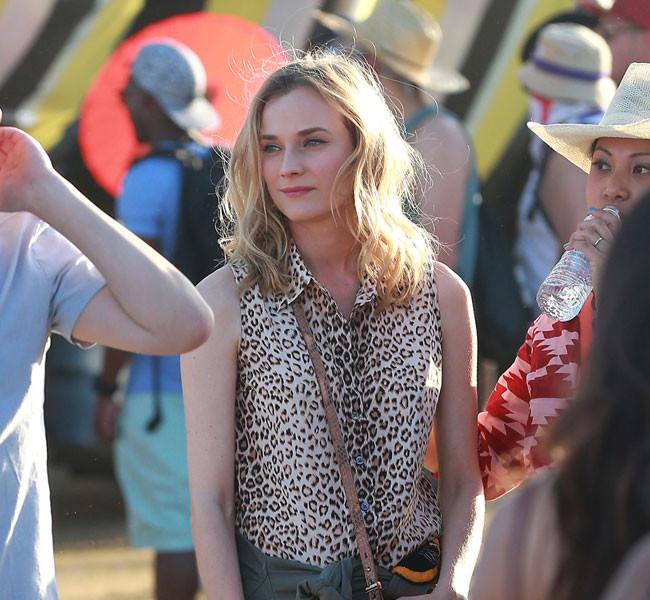 Diane Kruger saca su pasión animal en Coachella. ¿Hay algo que le siente mal?