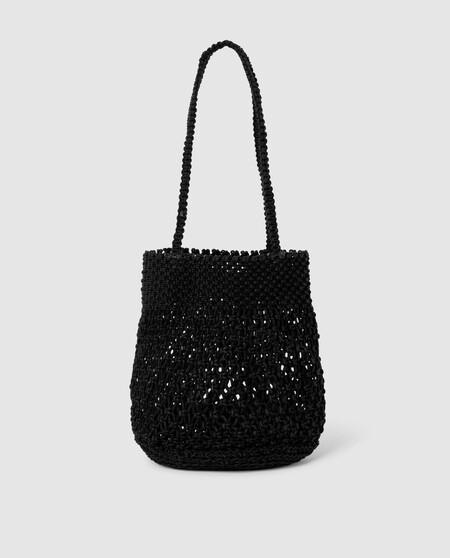Bolso De Mujer Green Coast Crochet Negro