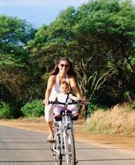 De paseo en bicicleta con tu bebé