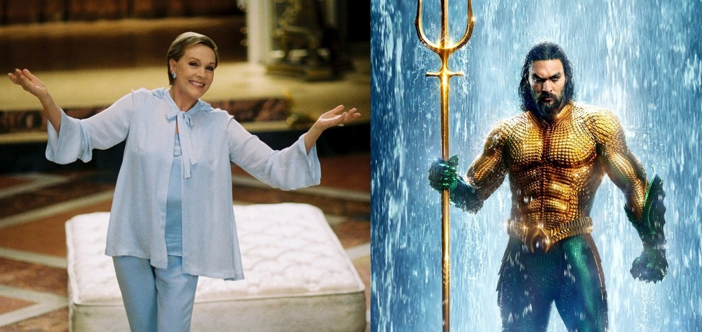 Julie Andrews returns to the cinema, but not in 'The return of Mary Poppins', but as a sea creature in 'Aquaman'