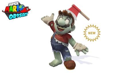 Super Mario Odyssey viste a Mario de zombi para celebrar Halloween junto con nuevos filtros para las fotos