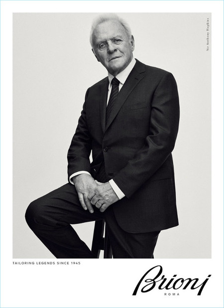 Brioni Fall Winter 2017 Campaign Sir Anthony Hopkins 002