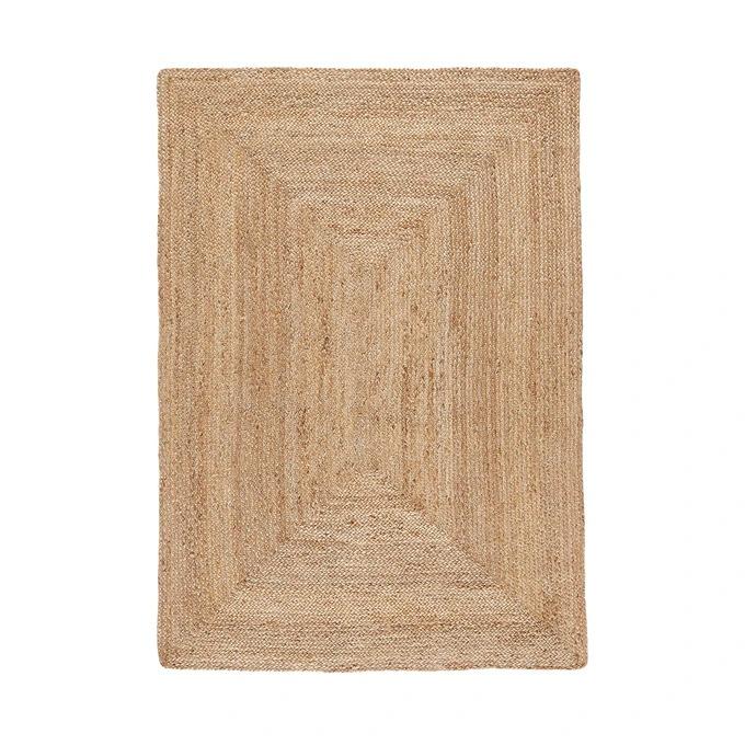 Alfombra de yute rectangular Aftas