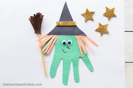 Manualidades Halloween Bruja Mano