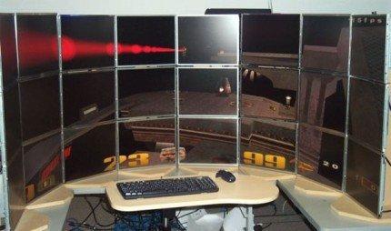 Quake 3 a una resolución de 10240x3072 pixels