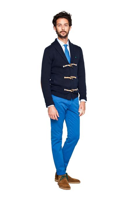 Pantalones y corbata fluor Purificacion Garcia