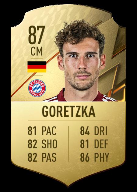 Goretzka fifa 22 mejores jugadores bundesliga