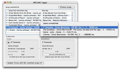 iEatBrainz: Completa los tags de tu música en iTunes mediante su sonido