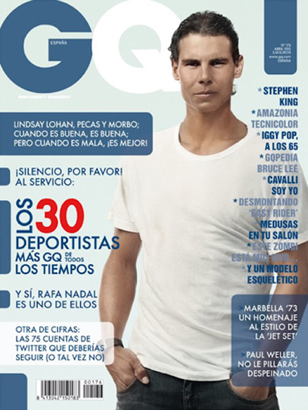 Rafael Nadal, el deportista con más estilo para GQ ¿Estás de acuerdo?