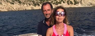 Ágatha Ruiz de la Charca crea corazoncitos de amor con Luis Gasset durante sus vacaciones