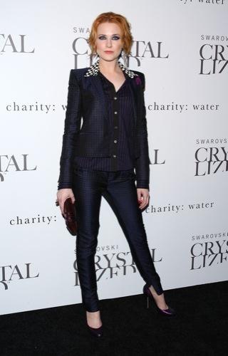 El estilo de Evan Rachel Wood, traje