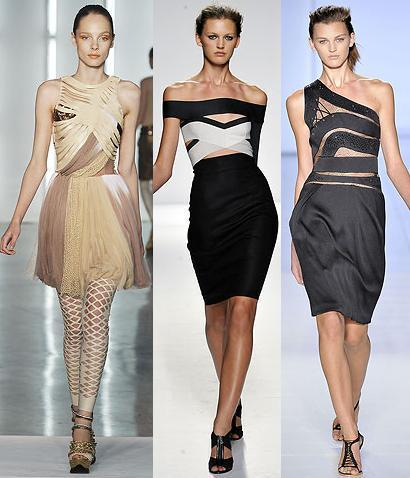 Todos los diseñadores imitan los vestidos banda de Hervé Léger