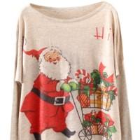 Jersey Estilo Vintage Navidad Sheinside