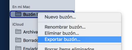 Mail Mac Exportar Buzon