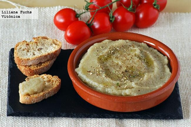 Caviar o dip de berenjena. Receta saludable