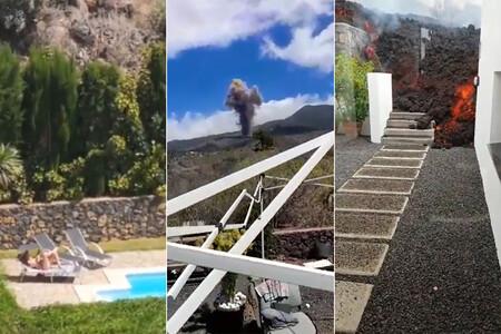 """Un intimidante volcán estalla en Canarias. Reacción de los canarios: """"Hay tiempo para comer"""""""