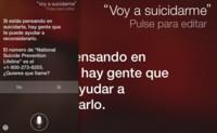 Siri ahora trata de ayudarte más activamente en caso de que quieras suicidarte