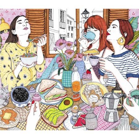 El costumbrismo millennial o cómo las coloristas ilustraciones de Ana Jarén reflejan a toda una generación