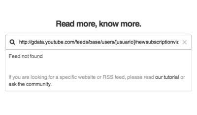 Google elimina la posibilidad de acceder a tus suscripciones de YouTube a través de RSS