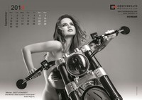 Calendario 2014 por Confederate Motorcycles