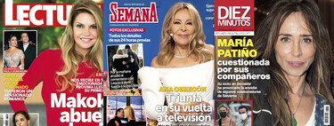 María Patiño cuestionada por la profesión, la emoción de Makoke por ser abuela y el éxito de Ana Obregón en las campanadas: estas son las portadas de la semana del 5 de enero