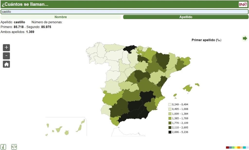 Esta web del INE te dice cuántas personas se llaman y/o apellidan como tú en España