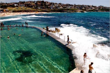 Piscinas de roca en Australia