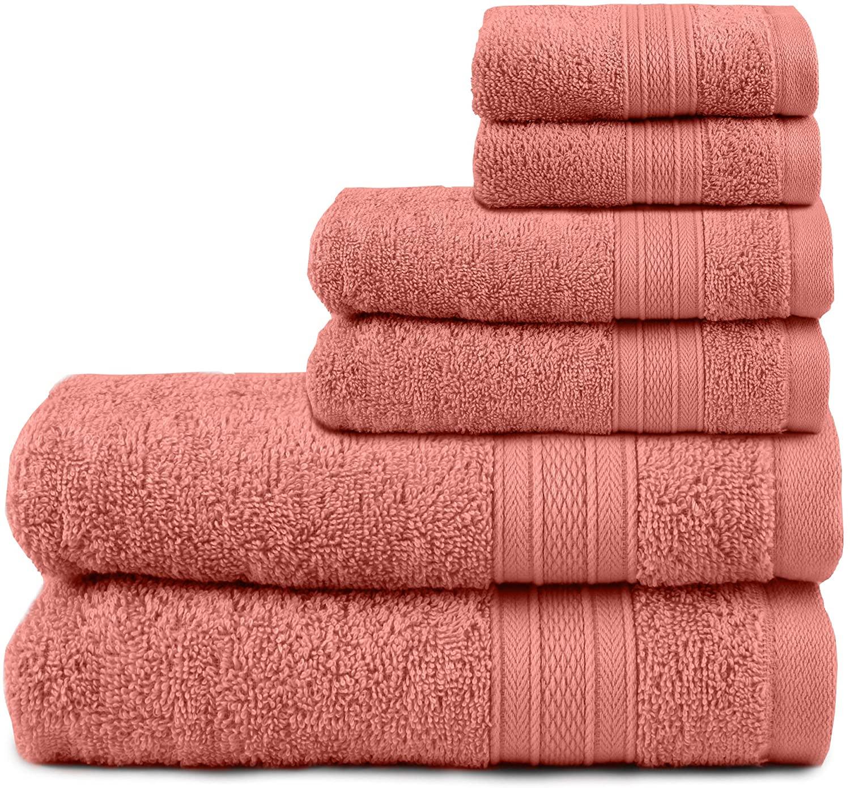 TRIDENT Juego Toallas - Soft & Plush - 100% algodón, 500 gsm, 6 Pieza Juego Toallas