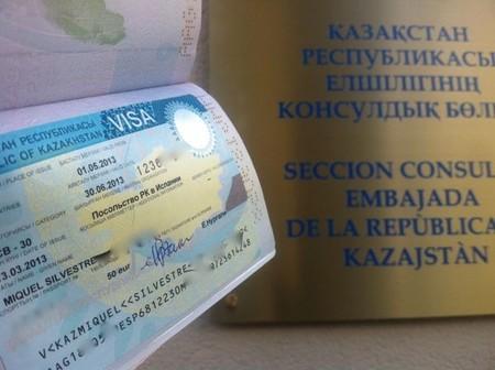 Embajada a Samarcanda. El visado de Kazakhstan