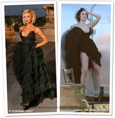 Vestido de Giambattista Valli: ¿Rumer Willis o Victoria Beckham?