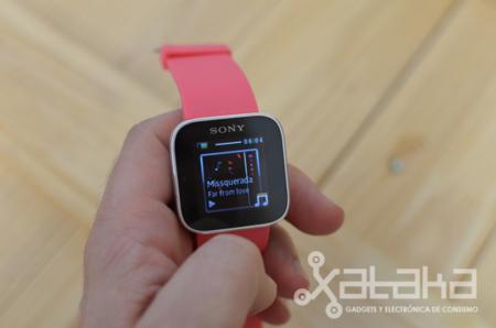 Sony SmartWatch música aplicación