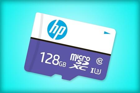 Tarjeta microSD HP de oferta en Amazon México: 128 GB de almacenamiento ideales para grabar video en 4K por 392 pesos
