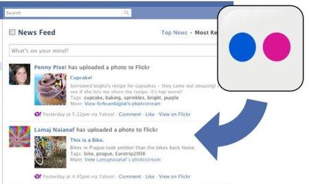 Flickr permite conectar tu cuenta con Facebook