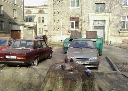 Aparcamiento en Rusia