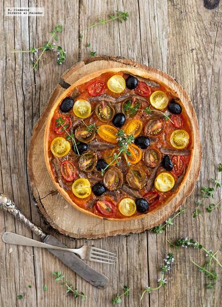 Tarta de Tomates y Anchoas