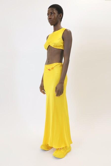 lorde vestido amarillo de solar power