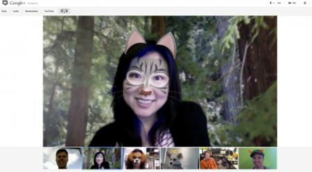 Google+ añade máscaras y otros efectos a sus Hangouts